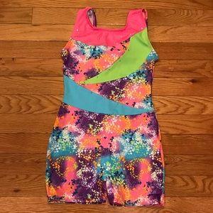 Girls Size 8/10 multicolor gymnastics unitard